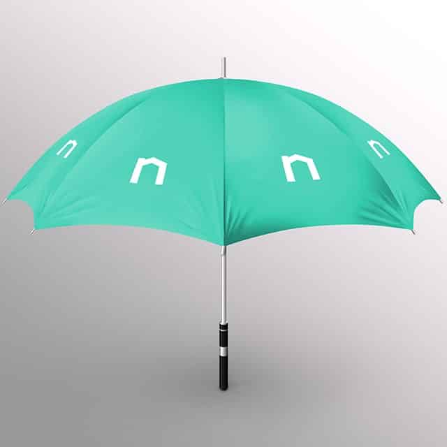 Next Moving insurance logo on an umbrella represents that all Next Moving local movers and long distance movers provide all types of moving insurance for free for all clients.